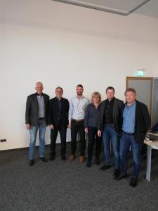 Wahl des neuen Sprechers des Netzwerks Forensik W.Stuckmann, G. Oppermann, A.Emmerich, E.Lange, P.Buschmann, H.Keller(v.l.n.r.)